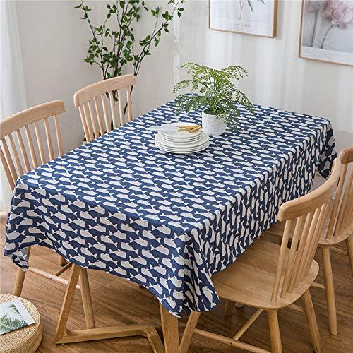 DJUX semplice e moderno griglia quadrata fresca nordico pastorale tavolino da pranzo tovaglia cotone lino tovaglia tovaglia