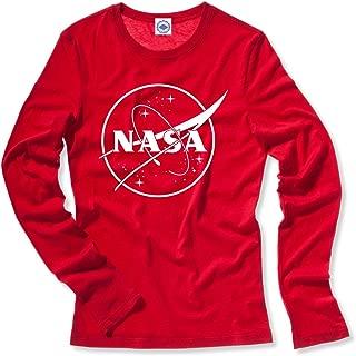 Hank Player U.S.A. NASA 1 Color Logo Women's Long Sleeve T-Shirt