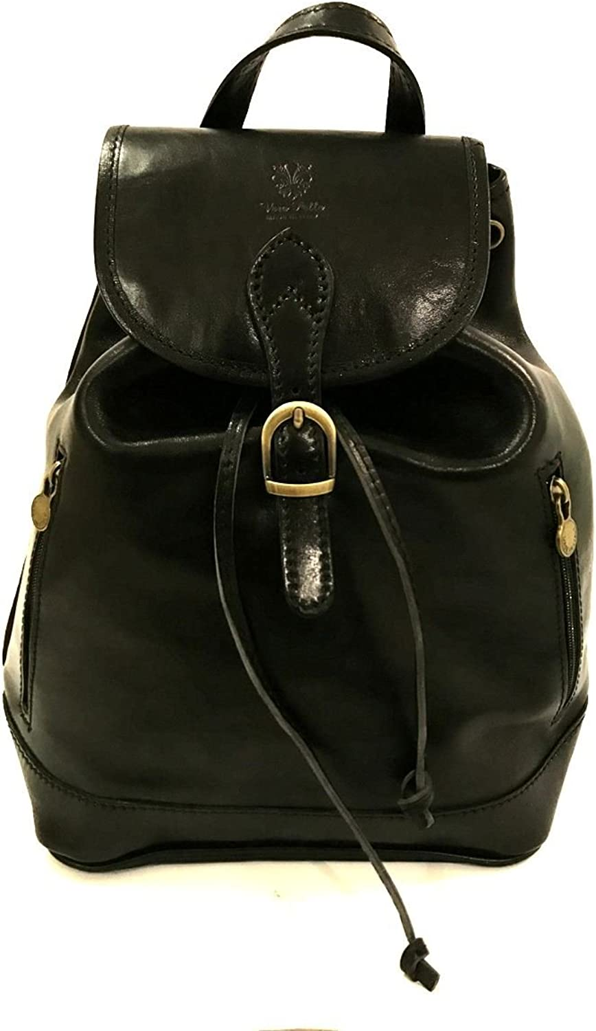 Genuine leather made in italy vintage backpack handbag zeta MainApps