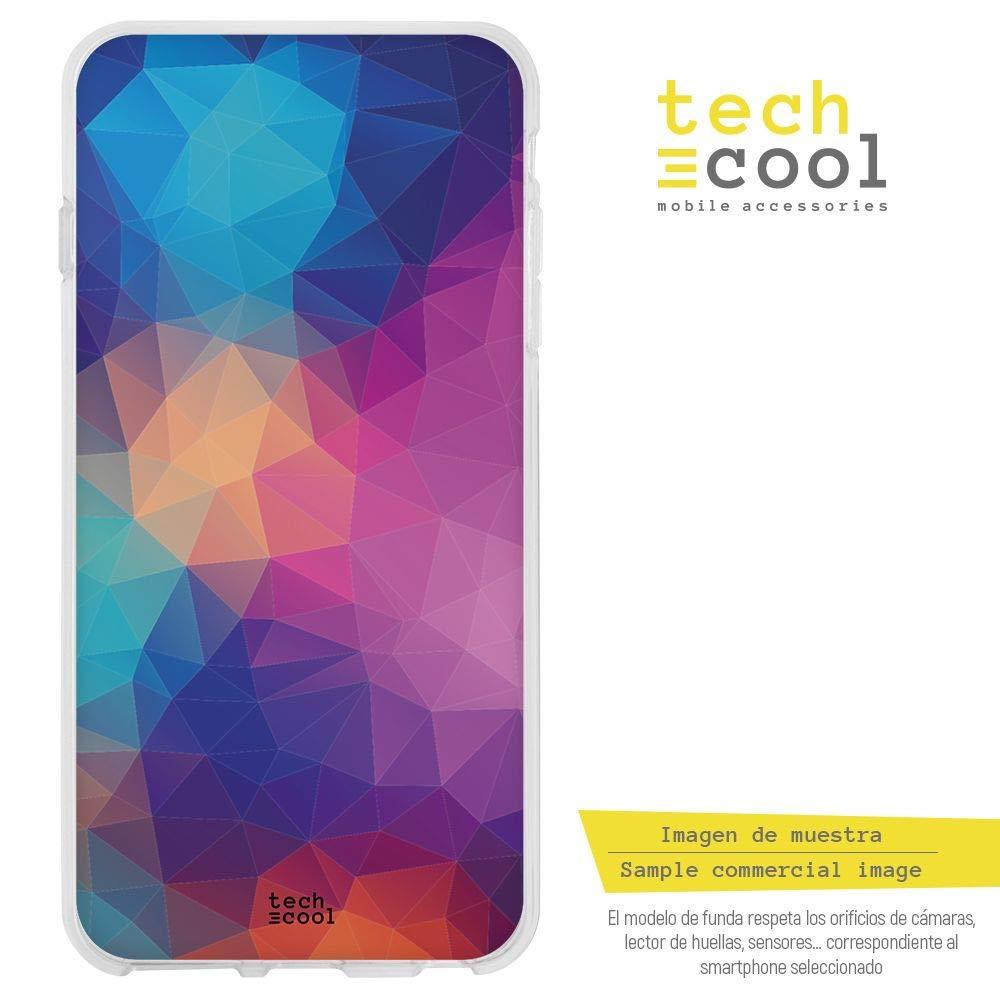 Funnytech® Funda Silicona para ZTE Blade A520 [Gel Silicona Flexible, Diseño Exclusivo] Fondo Abstracto trianculos Colores: Amazon.es: Electrónica