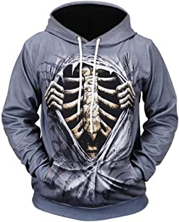 New Unisex Men Fashion 3D Digital Pullover Hooded Hoodie Sweatshirt Athletic Casual with Pockets Long Sleeve Tops