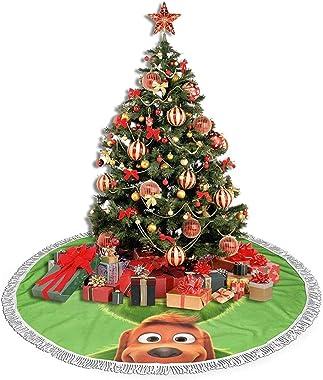 QCSTORE Robe de sapin de Noël en forme de monstre vert en fourrure douce et confortable