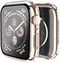 Smiling Case Compatible with Apple Watch Series 6/SE/Series 5/Series 4 44mm with Built in Tempered Glass Screen Protector-...