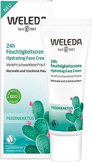 WELEDA Feigenkaktus 24h Feuchtigkeitscreme, feuchtigkeitsspendende Naturkosmetik Gesichtscreme für trockene und normale Haut zur täglichen Anwendung 1x 30ml