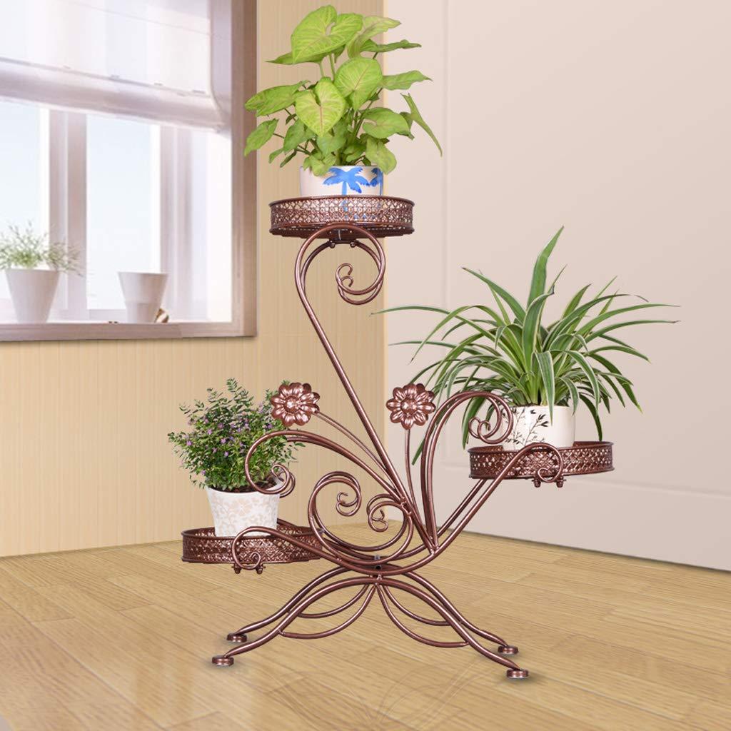 Estantería para Macetas Escalera De 3 Niveles Estantes para Flores Plancha De Arte De Hierro Estantes