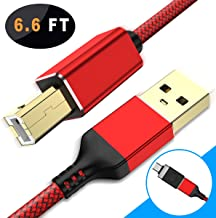 Basesailor USB A to USB B Printer Cable with USB Type C to USB Adapter,USB 2.0 A-Male to B-Male Scanner Cord Compatible with Brother, HP, Canon, Lexmark, Epson, Dell, Xerox, Samsung, and More