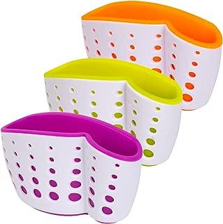 Casabella Sink Sider Suction Cup Sponge Holder, Assorted Colors