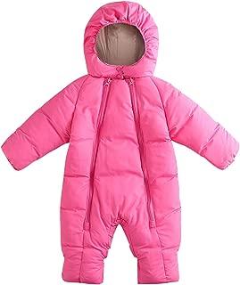 Baby Toddler Snowsuit Double Zipper Long Sleeve Padding Jumpsuit 6-24 Months