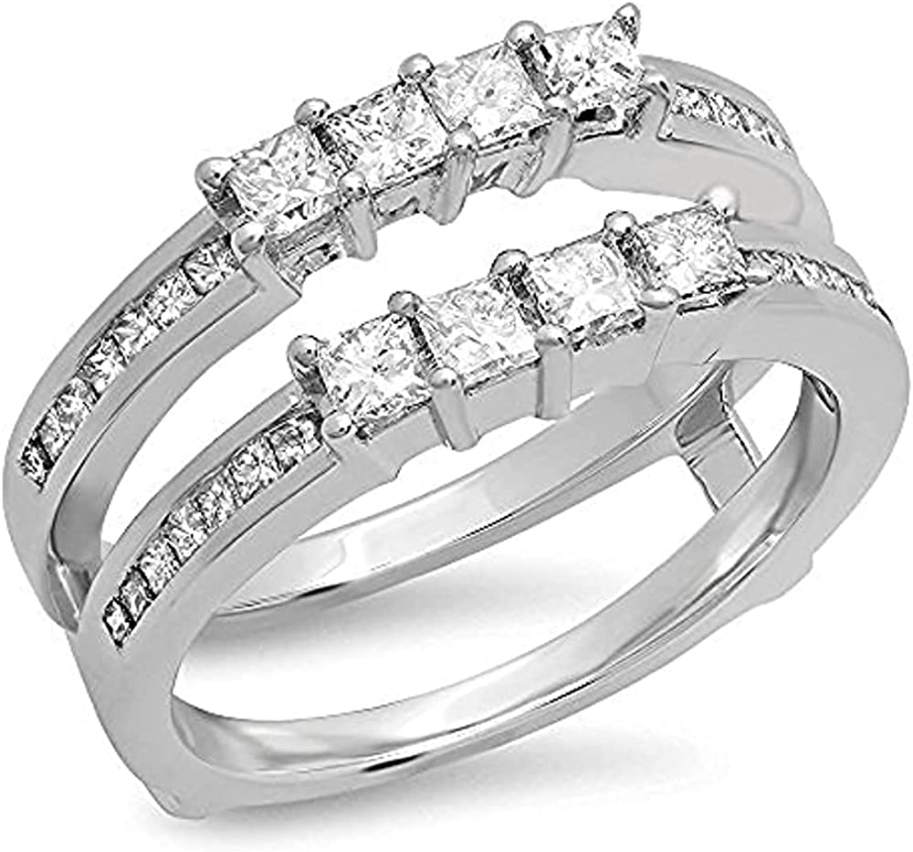SVC-JEWELS 0.90Ct Princess Cut 14K Dia mart White Gold Plated Ranking TOP16 E