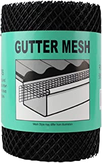 Home-X - Gutter Guards Roll & Leaf Guard, 6-inch x 20-Feet of Durable Rust-Free Plastic Mesh Netting for Quick Application and Use in Home Gutters, Covers and Protects in Seconds