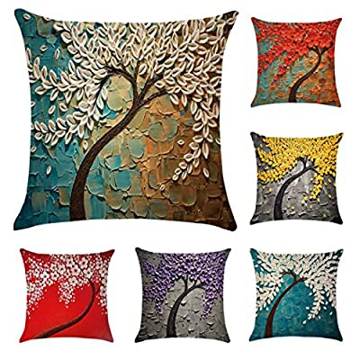 Polyester Throw Pillow Case Cushion Cover Home Sofa Decorative (Cover Only,No Insert)