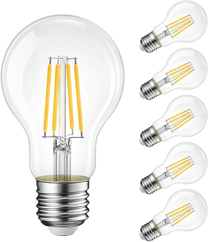 1331 opinioni per Lampadine di filamenti a LED, 8W Equivalenti a 75W, 1055LM, 2700K Bianco Caldo,