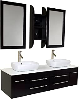 Best fresca bellezza espresso modern double sink bathroom vanity Reviews