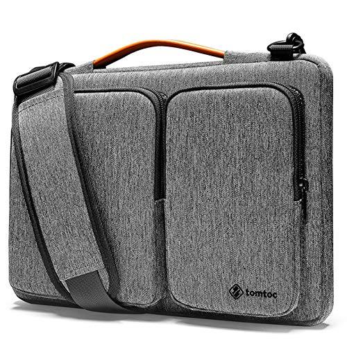 tomtoc 360 Protective Laptop Shoulder Bag for 16-inch MacBook Pro, 15 Old MacBook Pro, Water-resistant Case for Dell XPS 15, New Surface Book 3/2, The New Razer Blade 15, ThinkPad X1 Extreme Gen 2