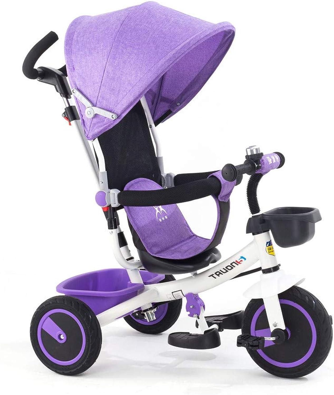WYX-Trike Kinder Dreirad 1-3-5 Jahre Kinderwagen Mit Markise Babyfahrrad,c