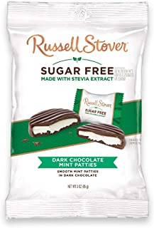 Russell Stover Sugar-Free Mint Patties, 3 Ounce Peg Bag (Pack of 12)