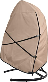 ULTCOVER Patio Hanging Egg Chair Cover - Waterproof Outdoor Double Seat Swing Egg Chair with Stand Cover 66W x 43D x 68H i...