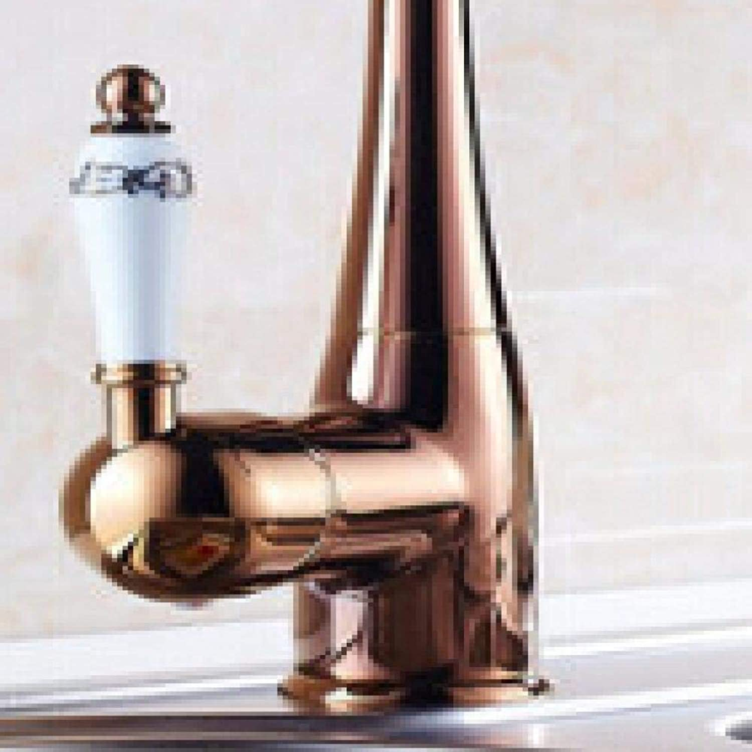 PUSMASH Fashion brass gold hot and cold single lever kitchen sink faucet tap bathroom basin faucet sink tap