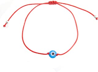 KePu Evil Eye Bracelet for Women Handmade Braided Red String Amulet Pull Tie Bracelet