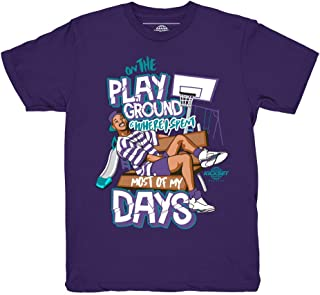Grape 5 Fresh Prince Playground Purple Shirt to Match Jordan 5 Grape Fresh Prince Sneakers