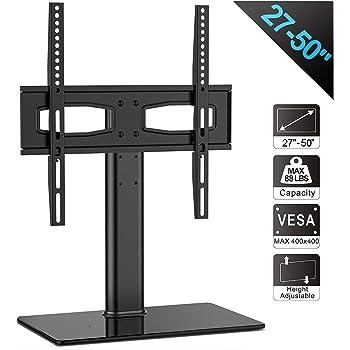 FITUEYES Soporte para TV de 27-50 Pulgadas Altura Ajustable Soporte de Mesa para Televisor LCD LED OLED Plasma Plano Curvo TT104201GB: Amazon.es: Electrónica