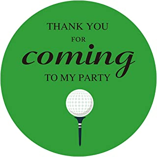 MAGJUCHE Golf Themed Thank You Stickers, Birthday or Retirement Party Favor Labels, 2 Inch, 40-Pack