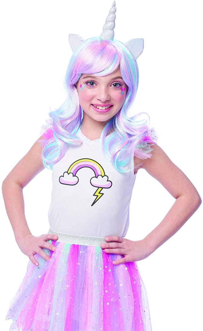 Costume Courier shipping free shipping NEW before selling Culture Girls Rainbow Wig Accessory Unicorn