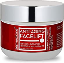 Natural Anti-Aging Facelift Cream for Face | Ultimate Moisturizer w/Retinol, Peptides, Stem Cells, Hyaluronic Acid, Vitamin E, Grape Seed | Helps Smooth Fine Lines, Wrinkles & Brightens | 2 OZ / 60 G