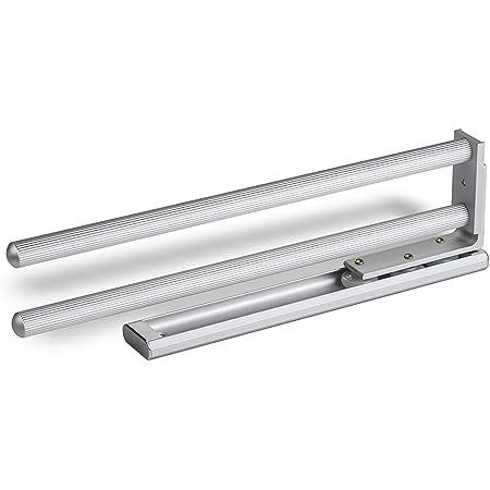 SO-TECH® Porte-Serviettes Extensible 2-bras Pivotant 335 mm Finition Aluminium Porte-Linges Barre Glissière