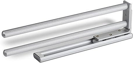 SOTECH dubbele handdoekhouder, aluminium, uitschuifbaar van 335 tot 478 mm, voor wandmontage