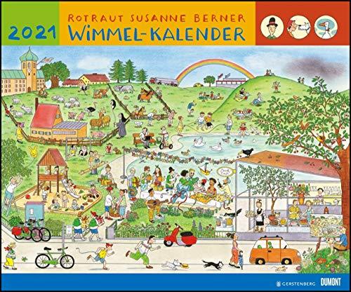 Wimmel-Kalender 2021 – DUMONT Kinderkalender – Wandkalender 58,4 x 48,5 cm – Spiralbindung
