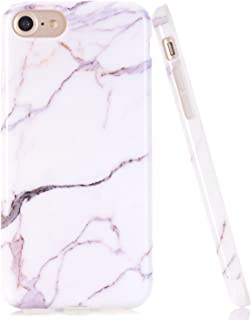 JDBRUIAN iPhone SE 2 Case,iPhone 7,8 Case, White Gray Marble Pattern Case Slim Fit Flexible Soft TPU Bumper Shockproof Rubber Silicone Skin Cover for Apple iPhone SE 2 / iPhone 8 / iPhone 7