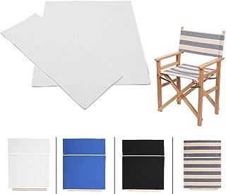 DeeCozy 1 par de Fundas para Asientos, Fundas para sillas, Fundas de Repuesto para sillas de Lona para sillas de directores, Juego de Fundas para sillas de directores, Fundas para Asientos, White