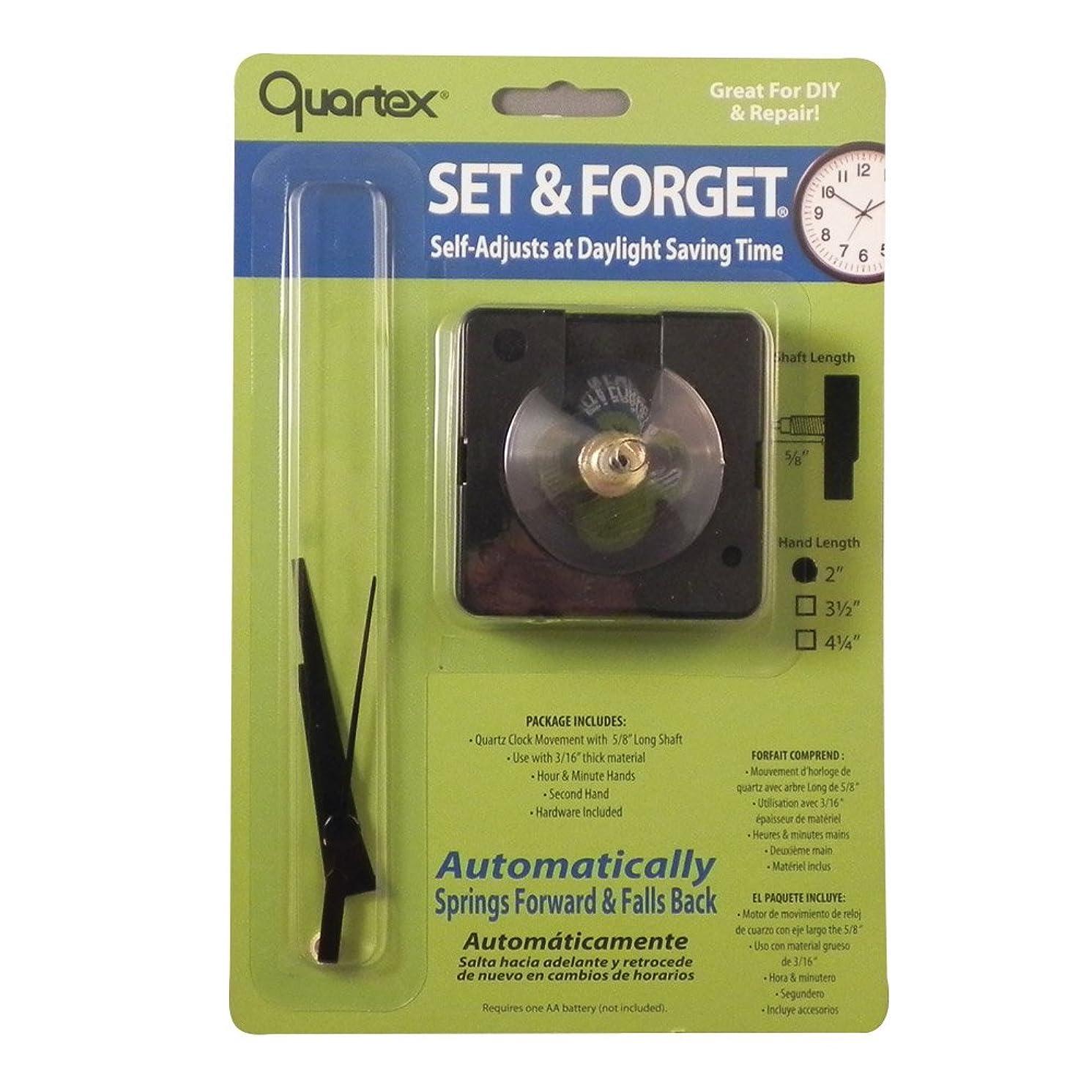 Quartex Set & Forget Clock Movement Set (3/16