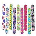 Timoo Large Nail Files Bulk 20 PCS Printed Emery Boards for nails, Double Sided, Assorted Colors, 7 Inches