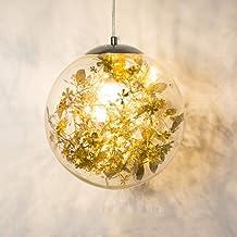 Nordic Moderne Minimalistische Glazen Kroonluchter Persoonlijkheid Creatieve Verlichtingslamp Diameter 25cm Gouden Sectie ...