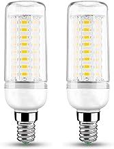 E14 LED Candle Bulbs 10W Equivalent to 60W Halogen Bulbs, 2 Pack Warm White 2700K LED Energy Saving Corn Bulbs for Chandel...