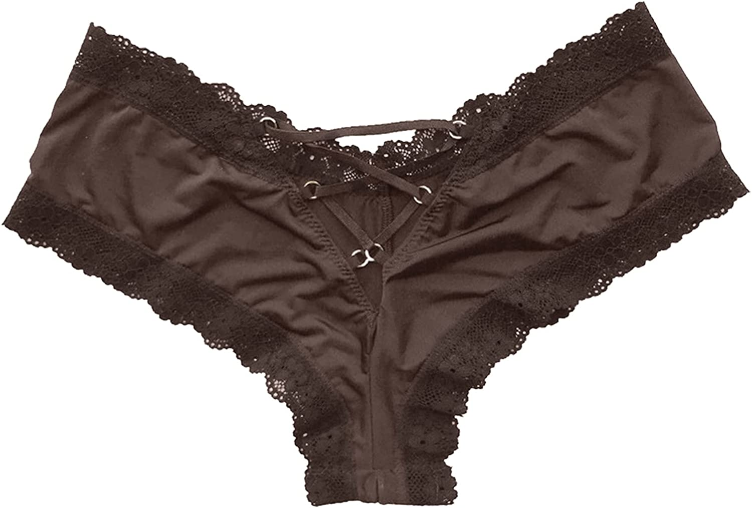 A2A Thong underwear for women No Show Breathable Cotton Thongs Underwear Seamless Panties Cross Tie Lace Underpants