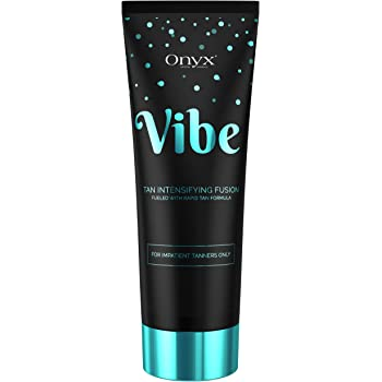 Onyx Vibe Indoor Dark Tanning Lotion Rapid Tan Effect Cupuacu Butter Tea Tree Coconut Argan Oil
