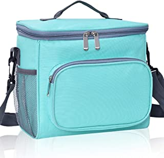 Lunch Bag,Insulated Lunch Box Organizer,Reusable Leakproof Lunch Pail for Women Men with Adjustable Shoulder Strap,Front Z...