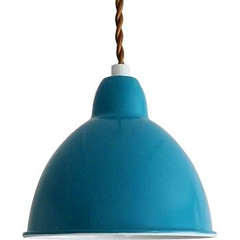 神戸マザーズランプ カラフルペンダントライト シンプルデザイン KMP-2003【LED電球色付属】 (ブルー)