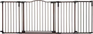 North States Deluxe Decor Baby and Pet Metal Gate + Extension