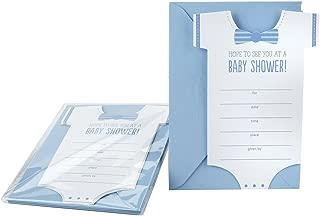 Hallmark Baby Shower Invitations, Onesie (Pack of 10 Invites and Envelopes for Baby Boy)