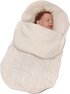 New Born Baby Boys Girls Fleece Sleeping Bag - Thicken Cable Knitted Warm Sleepsack Wrap Swaddle Blanket Pushchair Stroller Winter BESBOMIG