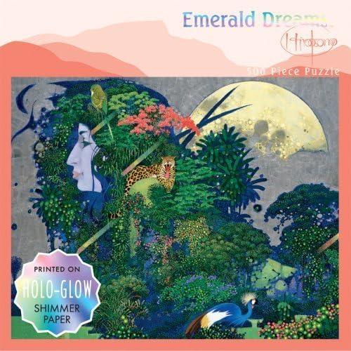 500 Piece Emerald Dreams Holo-GFaible Puzzle - Leopard by Ceaco