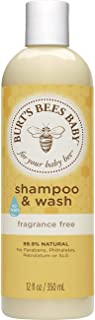 Burt's Bees Baby Shampoo & Wash, Fragrance Free & Tear Free Baby Soap - 12 Ounce Bottle