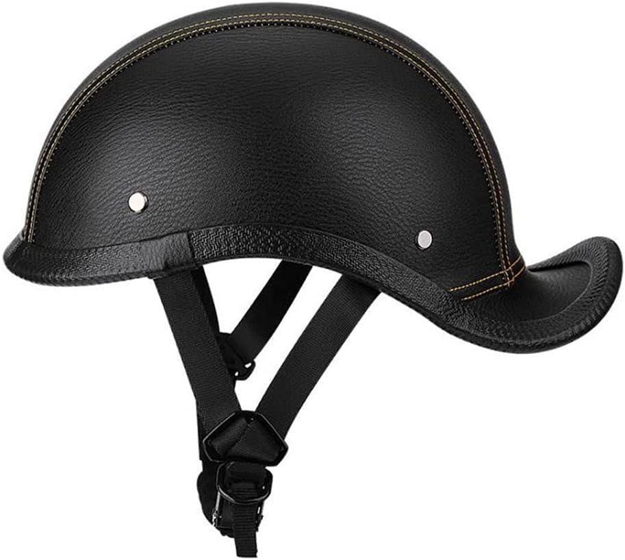 Vintage Very popular Adults Moto Half Helmet Open-Face Dallas Mall Hel DOT Certified