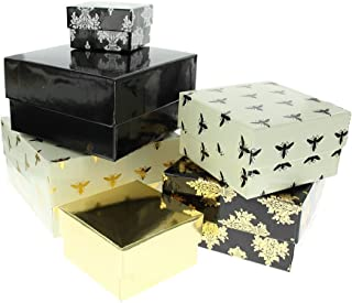 Die Cuts with A View Nesting Box-Black and Gold SY-047-00171
