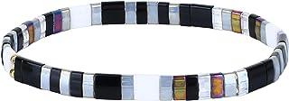 C·QUAN CHI TILA Pulsera de Cuentas Pulseras elásticas Coloridas Pulseras de Brazalete apilables de Moda Pulseras de Envolt...