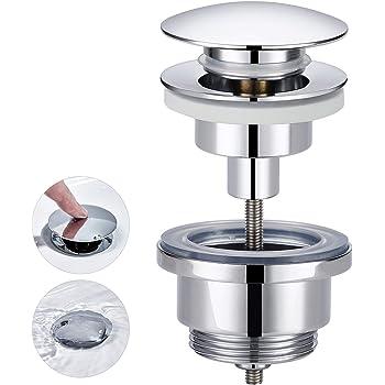 Cornat Push Up Impresi/ón bot/ón de v/álvula de desag/üe 1/1//4/pulgadas para lavabo t317421oh cromo